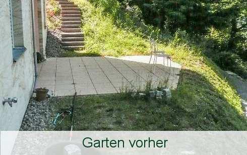 Garten vorher - Resysta